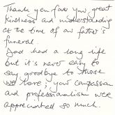 Kind words from our customers
