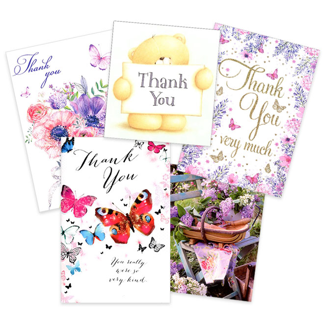North Norfolk Funeral Services - customer thank you cards